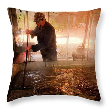 Makin' Molasses Throw Pillow by Tamyra Ayles
