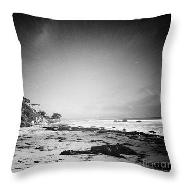 Throw Pillow featuring the photograph Malibu Peace And Tranquility by Nina Prommer