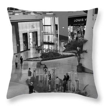 Mall Life Throw Pillow