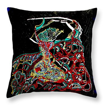 Mama Dinka - South Sudan Throw Pillow by Gloria Ssali