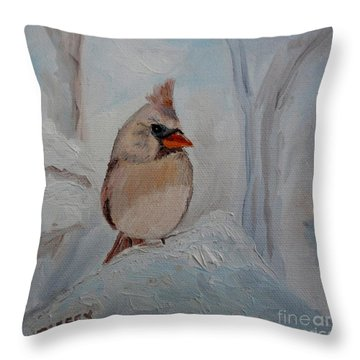 Throw Pillow featuring the painting Mama's On Her Way Home by Julie Brugh Riffey