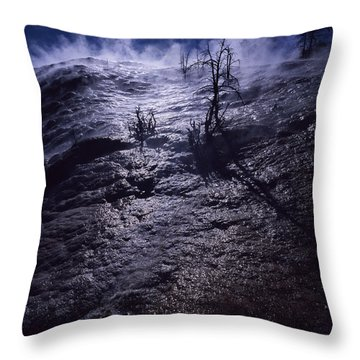 Throw Pillow featuring the photograph Mammoth Steam by J L Woody Wooden