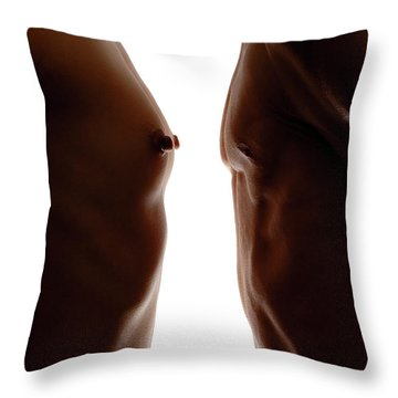 Man And Woman Throw Pillow by Oleksiy Maksymenko