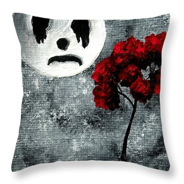 Man In The Moon Throw Pillow by Oddball Art Co by Lizzy Love