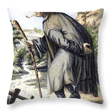 Man With Cane, C1795 Throw Pillow by Granger