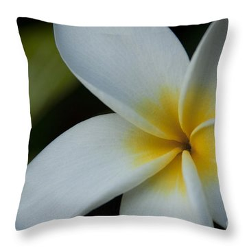 Mana I Ka Lani - Tropical Plumeria Hawaii Throw Pillow by Sharon Mau