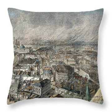 Manchester, England, 1876 Throw Pillow by Granger