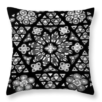 Throw Pillow featuring the drawing Mandala Of Hope Phase 1 by Lisa Brandel