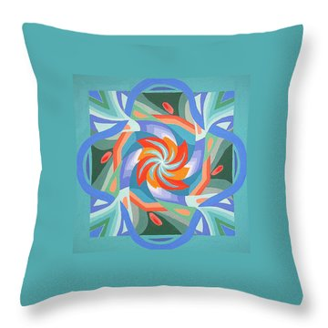 Throw Pillow featuring the painting Mandala by Rachel Hames