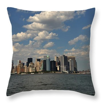 Manhattan Throw Pillow by Diane Lent