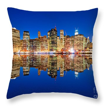 Throw Pillow featuring the photograph Manhattan by Luciano Mortula