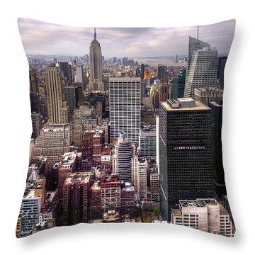 Manhattan02 Throw Pillow by Svetlana Sewell