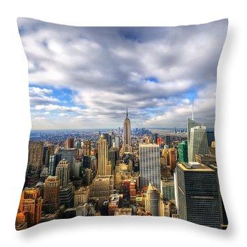 Manhattan05 Throw Pillow by Svetlana Sewell
