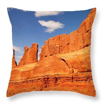 Manhatten In Utah Throw Pillow by Jeff Swan