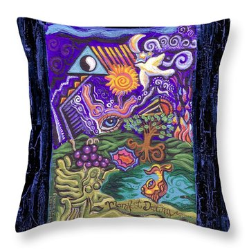 Manifest Destiny Throw Pillow by Genevieve Esson