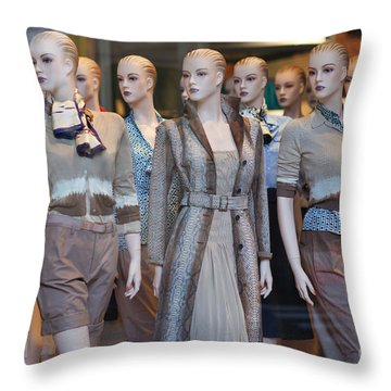 Mannequins I Throw Pillow by Clarence Holmes