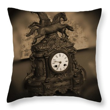 Mantel Clock Throw Pillow by Mike McGlothlen