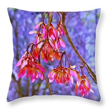 Throw Pillow featuring the photograph Maple Keys by Judi Bagwell