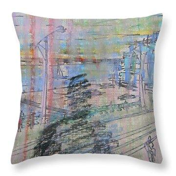 Maple Leaf Quay Throw Pillow by Marwan George Khoury