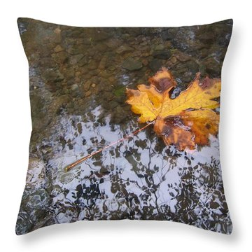 Maple Leaf Reflection 3 Throw Pillow