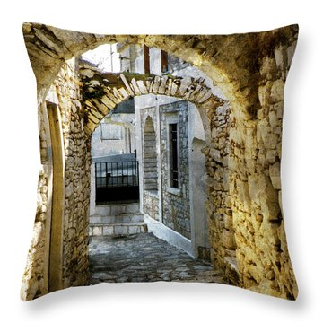 Marble Arches Throw Pillow