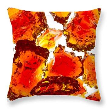 Marble Red Crackle Broken 1 B Throw Pillow by John Brueske