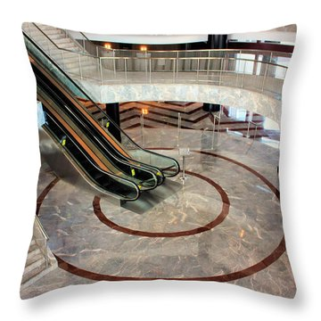 Marble Staircases Throw Pillow by Kristin Elmquist