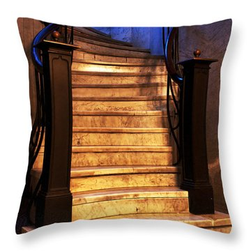 Marble Stairs Throw Pillow