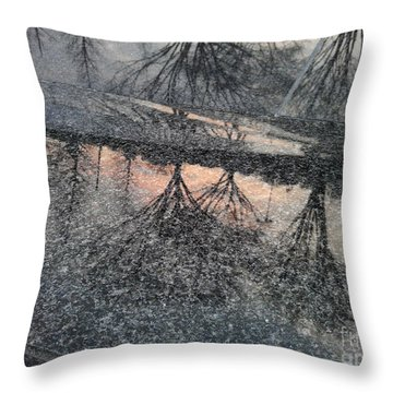 Marble Sunset Throw Pillow