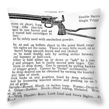 Marbles Game Getter Gun Throw Pillow by Granger