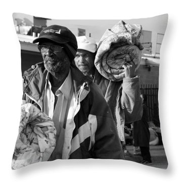March Of The Desolate Throw Pillow