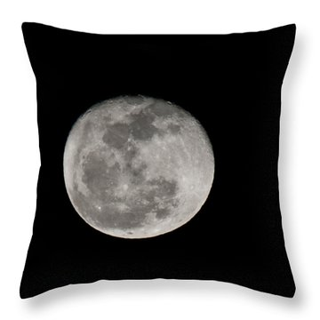 March Waning Moon Throw Pillow by Lara Ellis