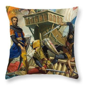 Marco Polo Throw Pillow by Severino Baraldi