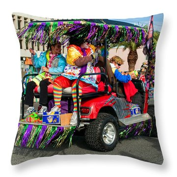 Mardi Gras Clowning Throw Pillow by Steve Harrington