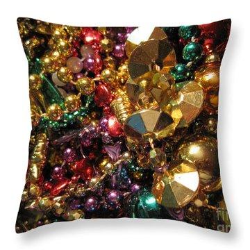 Mardi Gras Throw Pillow by Jan Prewett