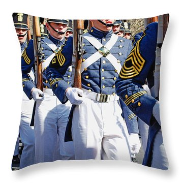 Mardi Gras Marching Soldiers Throw Pillow by Kathleen K Parker