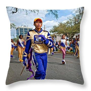 Mardi Gras Struttin' Throw Pillow by Steve Harrington