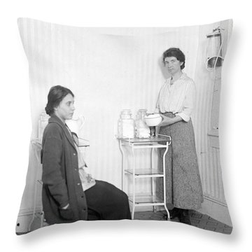 Margaret Sanger, American Social Throw Pillow by Science Source