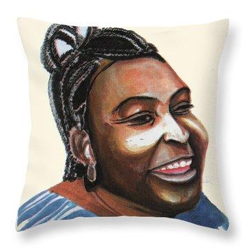 Mariama Ba Throw Pillow