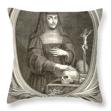 Marie-felicite Montmorency Throw Pillow by Granger