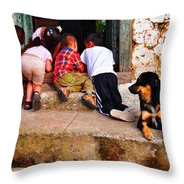 Mariguana Throw Pillow by Skip Hunt