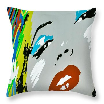 Marilyn Monroe Throw Pillow by Micah May