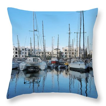Throw Pillow featuring the photograph Marina At Port El Kantaoui Sousse Tunisia by Maciek Froncisz
