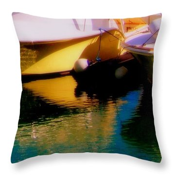 Marina Rainbow Throw Pillow by Karen Wiles