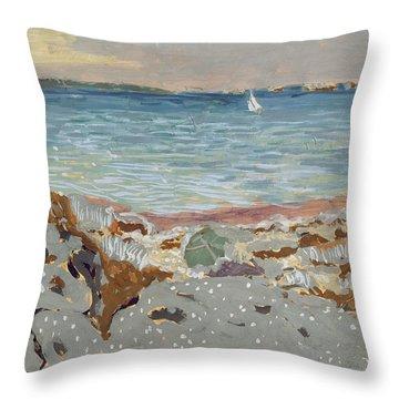 Marine Throw Pillow by Edouard Vuillard