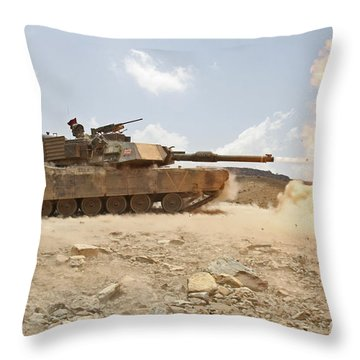 Marines Bombard Through A Live Fire Throw Pillow by Stocktrek Images