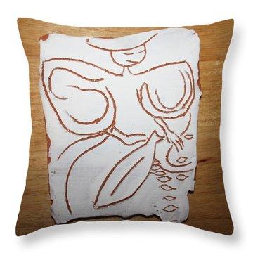 Market Seller 1 Throw Pillow by Gloria Ssali