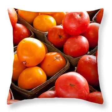 Market Tomatoes Throw Pillow by Lauri Novak