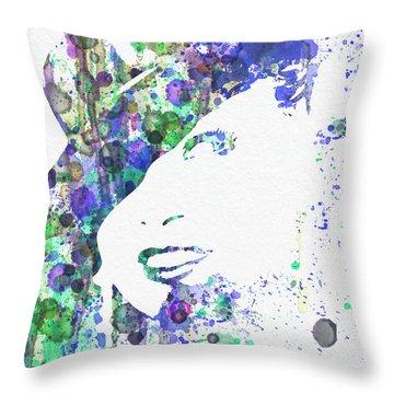 Marlene Dietrich Throw Pillow by Naxart Studio