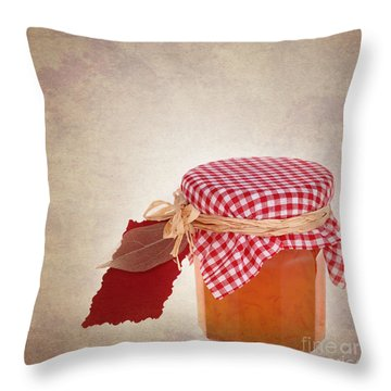 Marmalade Gift Vintage Throw Pillow by Jane Rix